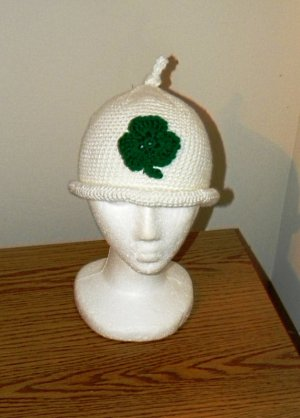 Crochet Pattern 026 - Shamrock Gnome Hat - All Sizes