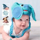Crochet Pattern 030 - Blue Puppy Earflap Beanie - All Sizes