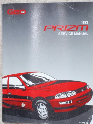 1993 Service Manual Chevrolet Geo Prizm