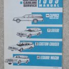 1989 Service Manual BB Chevrolet Caprice Oldsmobile Custom Cruiser Buick Estate Wagon