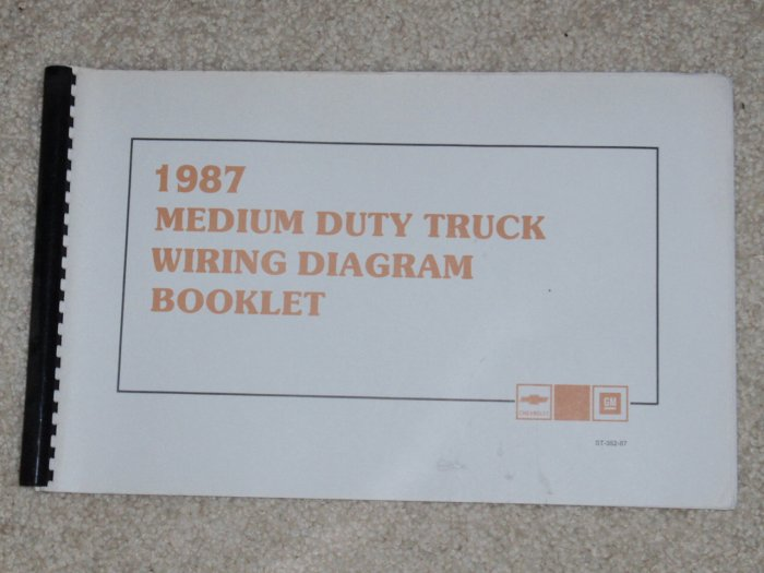 1987 service manual electrical diagnosis and wiring diagrams chevrolet medium duty truck