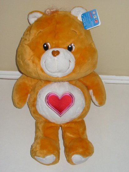 "Large Care Bears 28"" TENDERHEART PLUSH Teddy Bear 20th Anniversary Edition BIG Stuffed Animal"