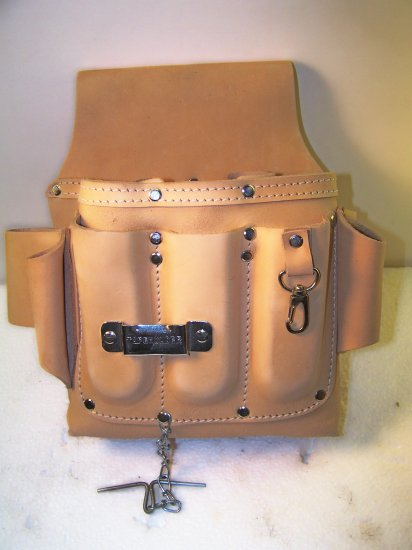 ELECTRICANS TOOL POUCH- LEATHER
