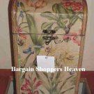 Antique Style 2 Compartment Bella Wood Floral Wine Box NEW