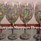 Set of 4 Fine Authentic BLOCK Crystal Summer Garden Stemware NEW