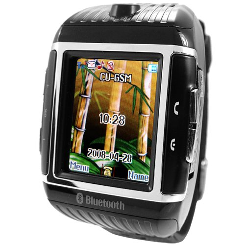 Quad-Band Cell Phone Watch - 1GB Water Resistant Mobile  [TKE-CVSCX-9300]