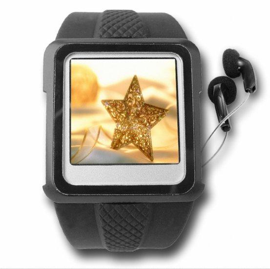 2GB Original Watch MP4 Player Black - 1.5-inch Screen  [TKE-CVAAD-WM888-2GB-BLACK]