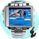 8GB - Ultimate Style Steel MP4 Player Watch - 1.8 Inch Screen  [TKE-CVSL-001-8]