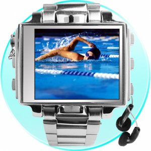 8GB - Ultimate Style Steel MP4 Player Watch - 1.8 Inch Screen  [TKE-CVSL-001-8]