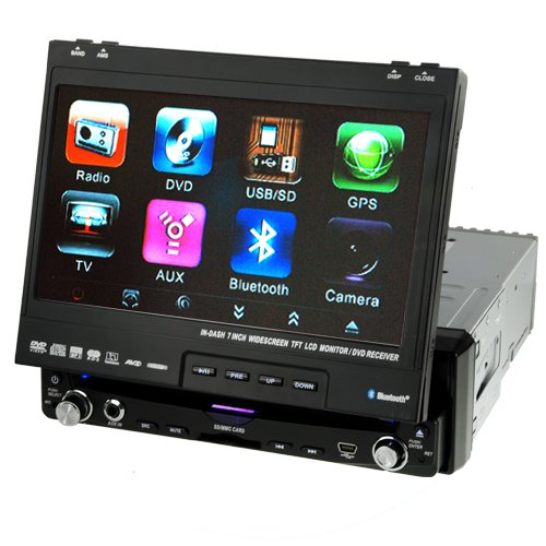 Large 7 Inch Touchscreen Bluetooth GPS Car DVD Player  [TKE-CVAU-C05]