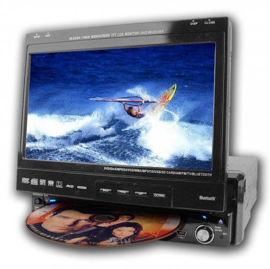 Large Screen Bluetooth Car DVD Player - 1-Din  [TKE-CVEZJ-6713DB]