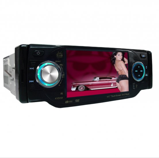 1-DIN TV Tuner + Bluetooth Car DVD Player - Plays DivX + MP4  [TKE-CVEJS-402BT]
