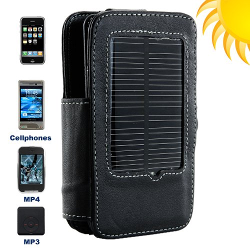 Solar Charger and Holder for Cellphones + Portable Media players  [TKE-CVBT-S10]