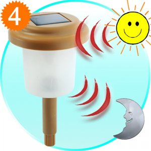 4 Solar Powered Landscape Lights - Bright Amber LED  [TKE-CVSB-896]