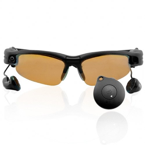 Sunglasses Camera with 4GB MP3 Player + Built-In Earphones  [TKE-CVSD-628-4GB]