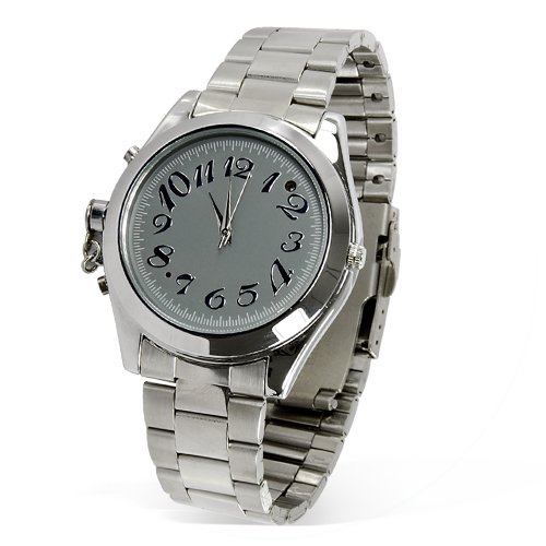 8GB Business Hidden Watch - Stainless Steel Strap (Audio/Video)  [TKE-CVGR-I03]