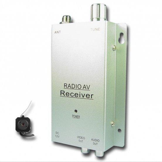 Pinhole 1.2GHz Wireless A/V NTSC Security Camera + Receiver Set  [TKE-CVAJM-007AS-NTSC]