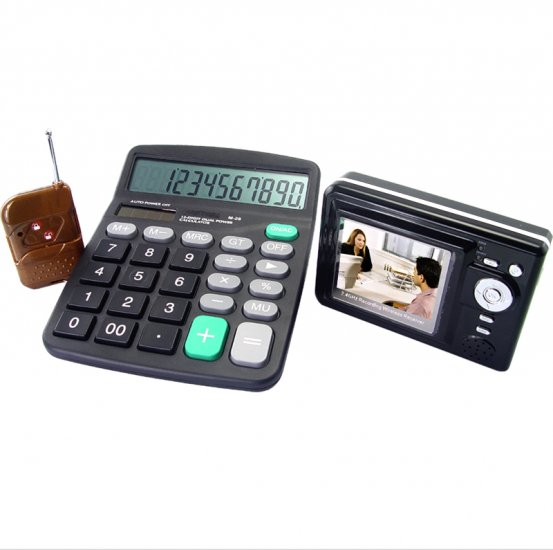 Calculator Videocamera - Ultimate Wireless Office Security  [TKE-CVSD-627]