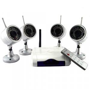 Wireless IR Night Vision Camera Security Set (NTSC)  [TKE-CVD-43A802X4-NTSC]