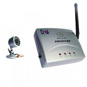 Mini Wireless Monitoring Video Camera and Receiver Set - NTSC  [TKE-CVD-310A802-NTSC]