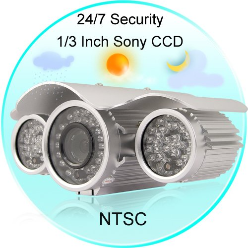 Sentinel - Waterproof Night Vision CCTV (SONY 1/3 CCD) - NTSC  [TKE-CVSH-I24-NTSC]