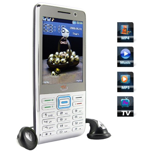 Quadband Dual SIM GSM Worldwide TV Cellphone  [TKE-CVIL-M39]
