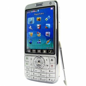 Quad Band Touchscreen Cell Phone - Large Display Silver Edition  [TKE-CVSCY-9400-SILVER]