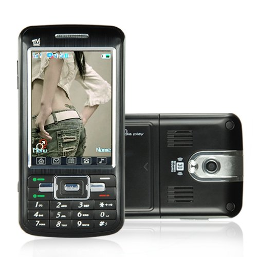 Touchscreen Dual SIM Dual Band GSM Cellphone + MSN and DVB-T  [TKE-CVDQ-M35]