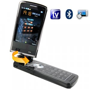 Quad Band Touchscreen Flip-Phone w/ Dual SIM, TV, Accelerometer  [TKE-CVDQ-M43]