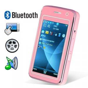 Elegance Dual SIM Quadband Cellphone w/3 Inch Touchscreen (Pink)  [TKE-CVFD-M31-PINK]