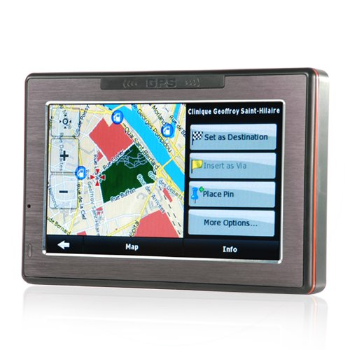 4.3 Inch Portable GPS Navigator with Touchscreen + Media Player  [TKE-CVGY-CS17]
