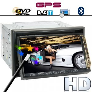 Road King 7 Inch High-Def Car DVD Player with GPS and DVB-T [TKE-CVGX-C39]