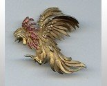 Ciner crowing rooster pin