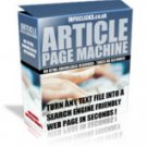 Introducing Article Page Machine - *Instant Web Pages*