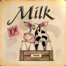 TIN SIGN - Milk - Cow