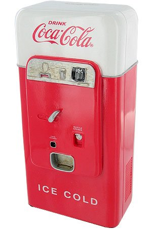 M.Z. BERGER & CO. COCA COLA VINTAGE VENDING MACHINE BANK