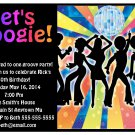 70s Disco Dance Adult Kid Teen Digital Birthday Party Invitations