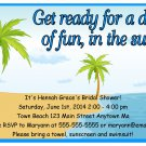 Pool Party Summer Time Beach Digital Birthday Baby Bridal Shower Invitations