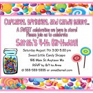 Candy Shop Shoppe Girl Pink Digital Birthday Party Invitations