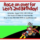 Race Car Racing Boys Digital Birthday Party Invitations