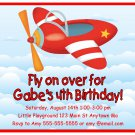 Airplane Jet Plane Cute Boys Digital Birthday Party Invitations