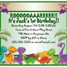 Dinosaurs Dino Cool Boys Digital Birthday Party Invitations