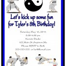 Karate Martial Arts Tae Kwon Do Digital Birthday Party Invitations