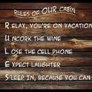 Rules of Cabin - Non-Personalized