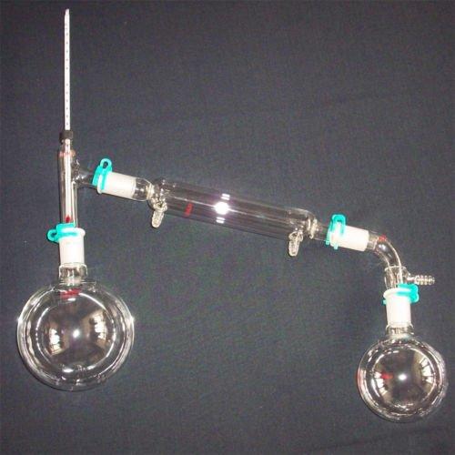 New 24/40 chemistry lab glassware distilling kit 10pcs
