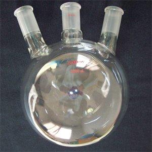Round bottom flask,3-neck,2000ml,24/40,heavy,angled