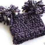 PORTRAIT INFANT BABY SACK HAT WITH POM POMS IN GOTHIC - GREAT PHOTO PROP!