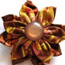 FABRIC FLOWER BROOCH IN FALLING LEAVES