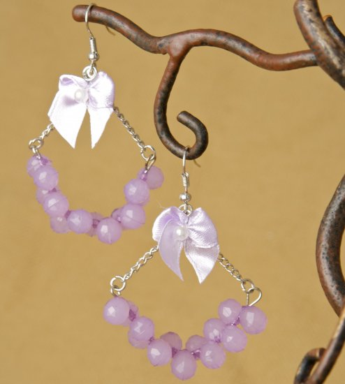 Chandelier earring Fashion Earrings - Lilac