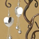 Polished Heart & Ball Earrings